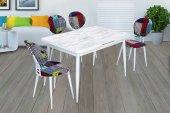 Diyo Beyaz 4 Kişilik Mutfağa Masa Ve Yamalıbohça Sandalye Ölçüleri