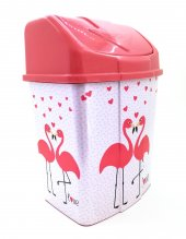 2 No Klik Çöp Kovası 8 Lt Pembe Flamingo...