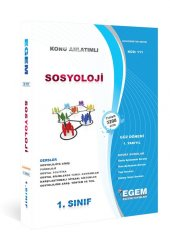 Aöf Sosyoloji 1. Sınıf 1. Yarıyıl Güz Dönemi Egem Yayınları