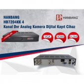 HANBANG HB7204KK 4 Kanal Dvr Analog Kamera Dijital Kayıt Cihazı 4 kanal kayıt cihazı
