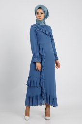 Puane Kadın İndigo Elbise 12112