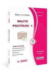 Aöf Maliye Politikası - I  4. Sınıf Güz Dönemi Konu Anlatımlı Soru Kitabı Tek EGEM YAYINLARI