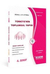Aöf Türkiye'nin Toplumsal Yapısı  4. Sınıf Güz Dönemi Konu Anlatımlı Soru Kitabı Tek EGEM YAYINLARI