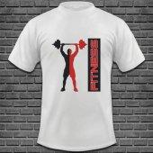 Fitness Baskılı Tişört Tasarımı FTN-003
