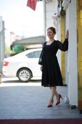 Yazlık Şifon Elbise - Siyah-2