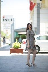 Yazlık Kısa Şifon Elbise - Çiçekli
