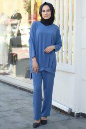 Tesettür Takım Elbise - Mavi