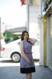 Yazlık Keten Elbise - Renkli-2
