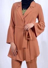 Tesettür Kahverengi Takım Elbise-2