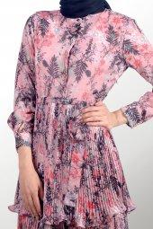 Tesettür Çiçekli Elbise-2