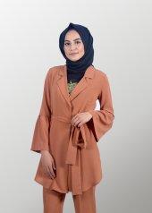 Tesettür Kahverengi Takım Elbise-3