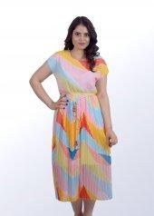 Kısa Rengarenk Elbise-2