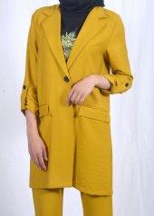 Tesettür Yağ Yeşili Takım Elbise-2