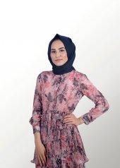 Tesettür Çiçekli Elbise-3