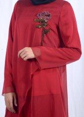 Tesettür Kırmızı Takım Elbise-2