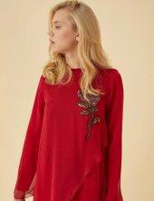 Tesettür Kırmızı Takım Elbise-3