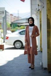 Tesettür Ceketli Takım Elbise - Tarçın