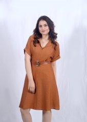 Taba Rengi Kısa Elbise-2