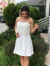 Yazlık Nikah Elbisesi - Beyaz-2
