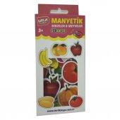 Buzdolabı Magneti Manyetik 31 Parça Meyve Sebze