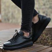 Yeni Sezon Erkek Tarz Casual Sneaker Günlük Spor Rahat Ayakkabı 257 Siyah Siyah