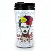 Frida Kahlo Amar Beyaz Termos Bardak