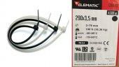 3.5 X 290 Siyah Kablo Bağı Plastik Kelepçe (100 Ad)