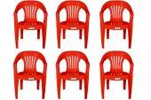 Ayder Plastik Sandalye Çubuk Kırmızı 6 Adet