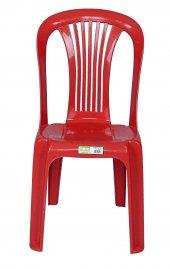 Fiore Plastik Sandalye Klasik Kırmızı