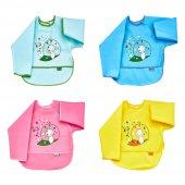 Babyjem Poli Muşamba Bebek Mama Önlüğü,çocuk Mutfak Önlükleri,kollu Mama Önlüğü Art 34