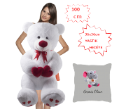 özgüner 100 Cm Bobo Pembe Tebrikler Yastık Tavşan Hediyeli