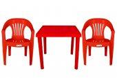 Ayder Çubuk Masa Sandalye Takımı Kırmızı 80x80 Mas...