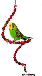 Ip Örgülü Boncuklu Tel Kuş Oyuncağı