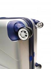 Kabin Boy Valiz Abs 4 Tekerlekli Gri Körüklü Valiz  Ussaro V210 M-4