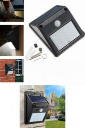Yeni Nesil Sensörlü Solar Duvar Lambası 20 Ledli