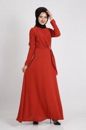 Puane Kadın Kiremit Elbise 12109