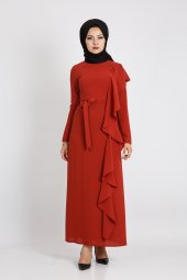 Puane Kadın Kiremit Elbise 12113