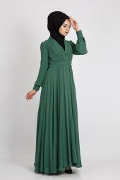 Puane Kadın Yeşil Elbise 12101