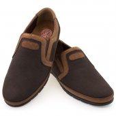 Kahverengi Taba Nubuk Şeritli Ortopedik Diyabetik Erkek Ayakkabı