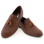 Taba Baklava Motifli Püsküllü Günlük Erkek Ayakkabı