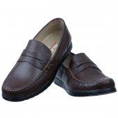 Kahverengi Burnu Dikişli Günlük Erkek Ayakkabı