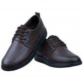 Kahverengi Burnu Dikişli Tulumlu Bağcıklı Günlük Erkek Ayakkabı