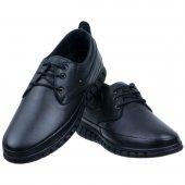 Siyah Baskılı Deri Tulumlu Bağcıklı Günlük Erkek Ayakkabı
