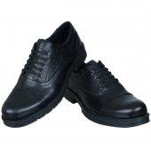 Siyah Parça Detaylı Bağcıklı Klasik Erkek Ayakkabı