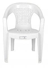 Ayder Plastik Sandalye Hasır Beyaz 6 Adet
