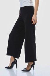 Siyah Bol Paça Pantolon-2