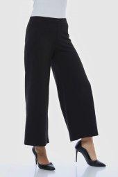 Siyah Bol Paça Pantolon-3