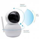 360 Kablosuz Wifi İp Kamera 1080p Full Hd 3 Mp Haraket Sensörlü Gece Görüşlü Ev, Ofis, Bebek İzleme