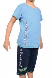 Erkek Çocuk Kapri Bermuda Pijama Takımı Kısa Kollu Pamuk Garson