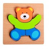 1 Adet Ahşap 3D Puzzle Yapboz Bultak - Eğitici Çocuk Oyuncak-5